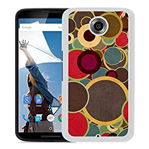 New Beautiful Custom Designed Cover Case For Google Nexus 6 With Multicolor Circles Brown (2) Phone Case
