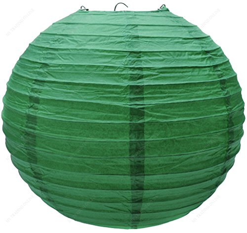 MV-Trading-LNT16ER-GG-Colorful-ChineseJapanese-Round-Paper-Lanterns-with-Metal-Frame-16-Inches-Grass-Green