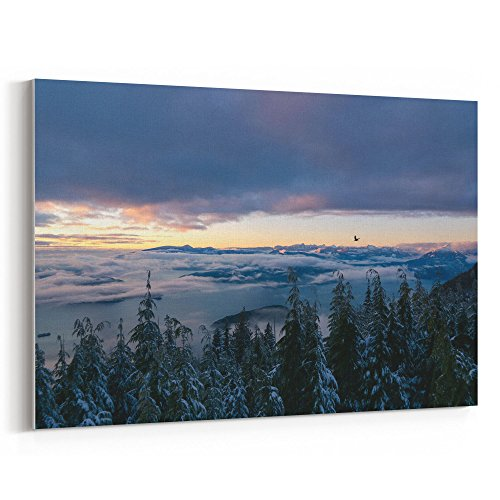 Adara Wood - Westlake Art Red Landscape - 5x7 Canvas Print Wall Art - Canvas Stretched Gallery Wrap Modern Picture Photography Artwork - Ready to Hang 5x7 Inch