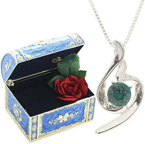[スポンサー プロダクト][デバリエ] 5月誕生日プレゼント 女性 人気 彼女 母 日贈り物 ネックレス レディース 贈り物 セット品(オルゴール1組 ネックレス1組) ラッピング付y441-jb(eme)