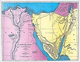Abingdon class map egypt to canaan route of the exodus via the abingdon class map egypt to canaan route of the exodus via the red sea and the wilderness sciox Choice Image