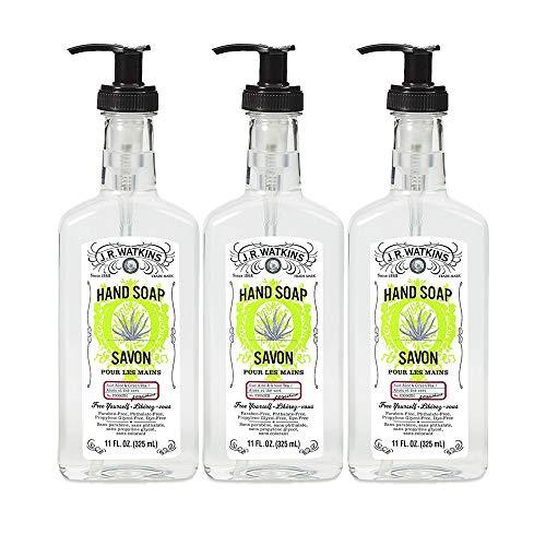 J.R. Watkins Hand Soap, Gel, 11 fl oz, Aloe & Green Tea (3 pack)