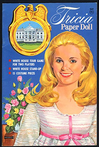 Tricia Nixon Paper Doll booklet by Saalfield 1970 from The Jumping Frog