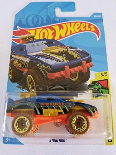 (Hot Wheels 2019 Treasure Hunt Dino Riders 5/5 - Sting Rod)