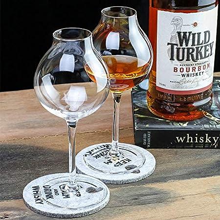 SXCYU Scotch Whisky Crystal Goblet Cup Bud Whisky XO Chivas Copa de cata de Vino, Copa de Barman X2,245mL