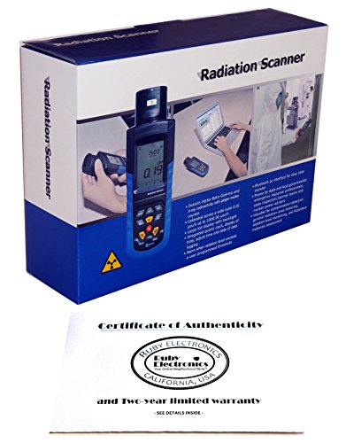 Ruby Electronics DT-9501 Professional Digital Alpha Beta Gamma and X Ray Radiation Scanner Meter Geiger Counter