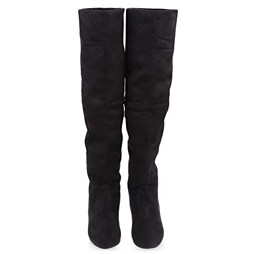 367fcb14b68 Hannea Vintage Pure Color Round Toe Ladies Knee Boots  Buy Online at Low  Prices in India - Amazon.in