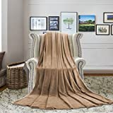 H.VERSAILTEX Luxury Super Soft Ultra Plush Blanket Gift Bedding Fleece Reversible Blanket for Bed and Couch Summer Cooling Warm Fuzzy Microplush Lightweight Thermal Fleece Blanket (King, Camel)