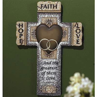 Faith Hope Love Marriage Cross by Walk By Faith Gifts
