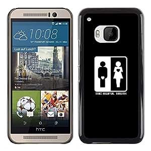 Caucho caso de Shell duro de la cubierta de accesorios de protección BY RAYDREAMMM - HTC One M9 - The Awful Truth