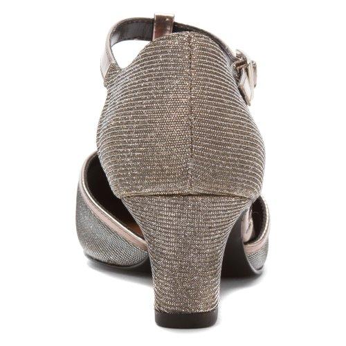 heels Women's M 4 Iridescent Fabric Silver MicroTouch Heidi Glitter Ros Black Hommerson fXwq5x61