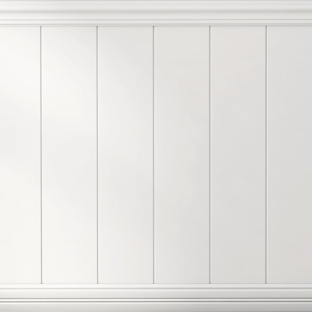 Boulanger 20822-KIT Primed Mdf V-Jointed Wainscot Kit, Including Chair rails & Base Boards,