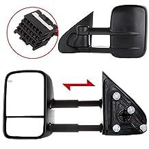 Autodayplus Towing Mirrors For 2014-16 Chevy/GMC Silverado/Sierra 1500, 15-16 Silverado/Sierra 2500 HD/3500 HD (Power Heated For 14-16)
