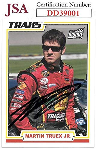 Martin Truex Jr. signed NASCAR 2006 Press Pass/Traks Racing Rookie Trading Card #34- Hologram #DD39001 - JSA Certified