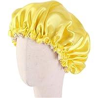 Minkissy Kids Satin Bonnet Double Layered Sleep Cap Night Hat Adjustable Elastic for Baby Children Child Toddler 1pc…