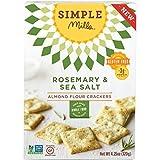 Simple Mills Almond Flour Crackers, Rosemary/Sea Salt, 4.25 Ounce by Simple Mills