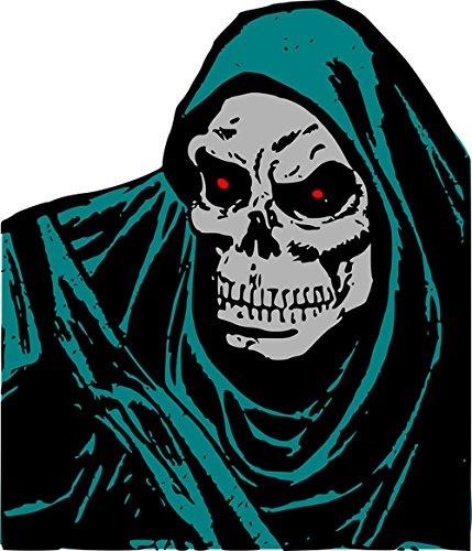 Gifts Delight Laminated 24x28 inches Poster: Death Evil Face Grim Halloween Halloween and Horror Horror Man Monster Non-Human Beings Reaper Skeleton Skull Skull Bones -