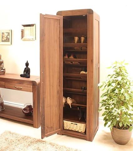 Bentley Zapatera de alto para muebles de madera de nogal: Amazon.es ...