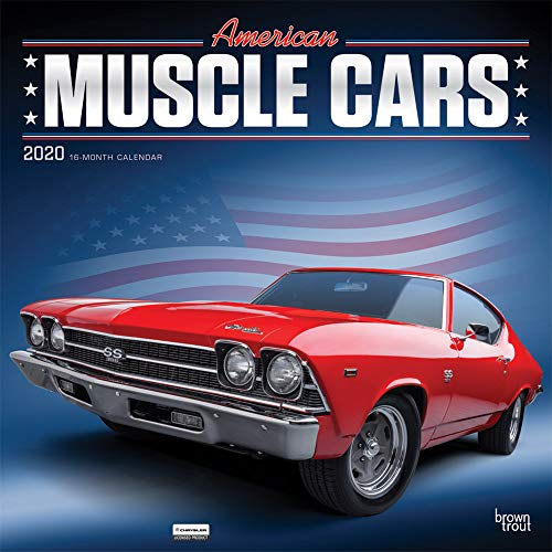 American Muscle Cars 2020 12 x 12 Inch Monthly Square Wall Calendar with Foil Stamped Cover, USA Motor Ford Chevrolet Chrysler Oldsmobile Pontiac