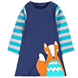Clearance Sale!OverDose Toddler Kids Baby Girls Dress Long Sleeve Cartoon Dresss Tunic Outfits Children Costume(3T, A11)