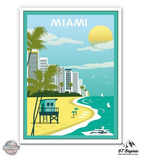 Miami Vintage Travel Poster Style - 3