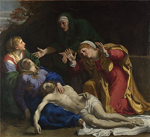 Oil Painting 'Annibale Carracci - The Dead Christ Mourned (The Three Maries),about 1604' 20 x 22 inch / 51 x 56 cm , on High Definition HD canvas prints, gifts for Bar, Dining Room And Kids Ro decor
