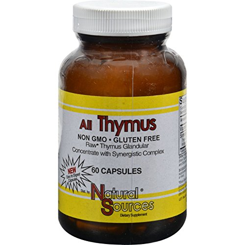 Natural Sources All Thymus - Non GMO - Gluten Free - 60 Capsules (Pack of 2) by Natural Sources (Image #1)