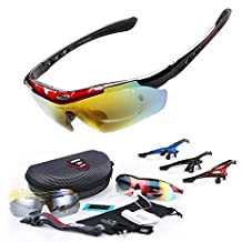 GEBANG Obaolay SP0868 Polarized UV Protection Sunglasses for Man Women Outdoor Sports Cool Goggles with 5 Interchangeable Lens for Bicycling, Fishing, Golf, Driving, Skiing and All Outdoor Activities
