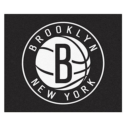 FANMATS 19458 NBA - Brooklyn Nets Tailgater Rug , Team Color, 59.5''x71'' by Fanmats