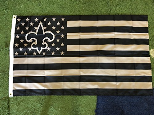 New Orleans Saints American Flag Logo Flag 3x5- With Grommets