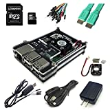 Eleduino 9-in-1 Raspberry Pi 2 Most Common and Useful Componenets Kit for Raspberry Pi 2 Model B, Case Box+Cooling Fan+ 8GB Memory Card+Wifi Dongle+Hdmi Cable+Network cable+5V2A US plug adapter+Power Cable with ON/OFF Switch+TTL Cable