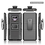 Stronden Galaxy Note 9 Belt Case - Holster Case Belt Clip (Rubberized Grip) Slim Fit Protective Cover with Kickstand, Combo Shell Holder for Samsung Note 9 (Black)