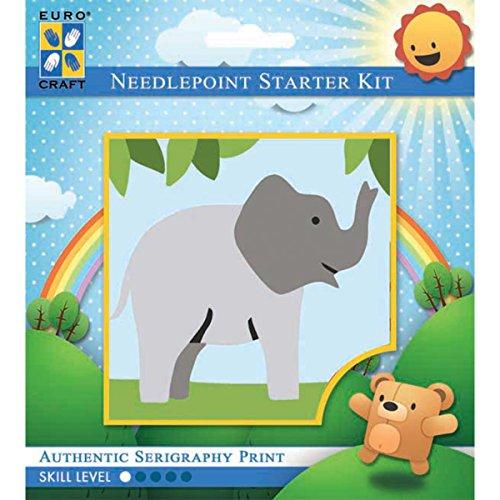 (Needleart World Trumpeting Elephant Needlepoint Kit)