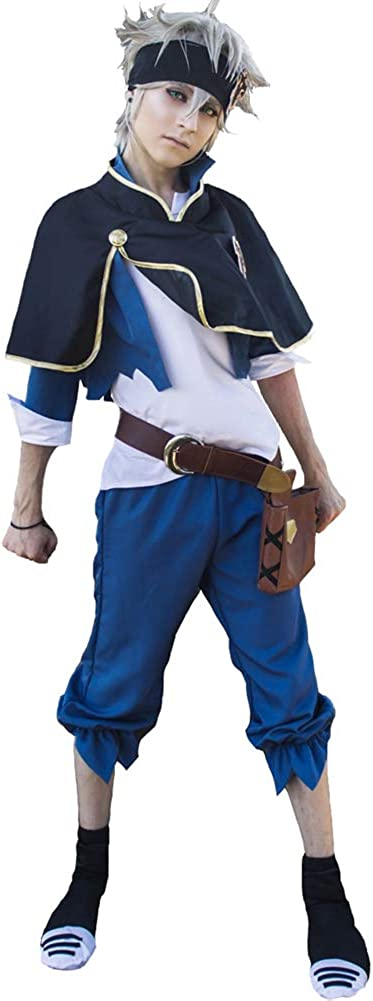 Nuoqi Black Clover Japanese Anime Mens Upgrade Uniforms Cosplay Costumes