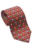 Josh Bach Men's Nutcrackers Christmas Silk Necktie Red Made in USA
