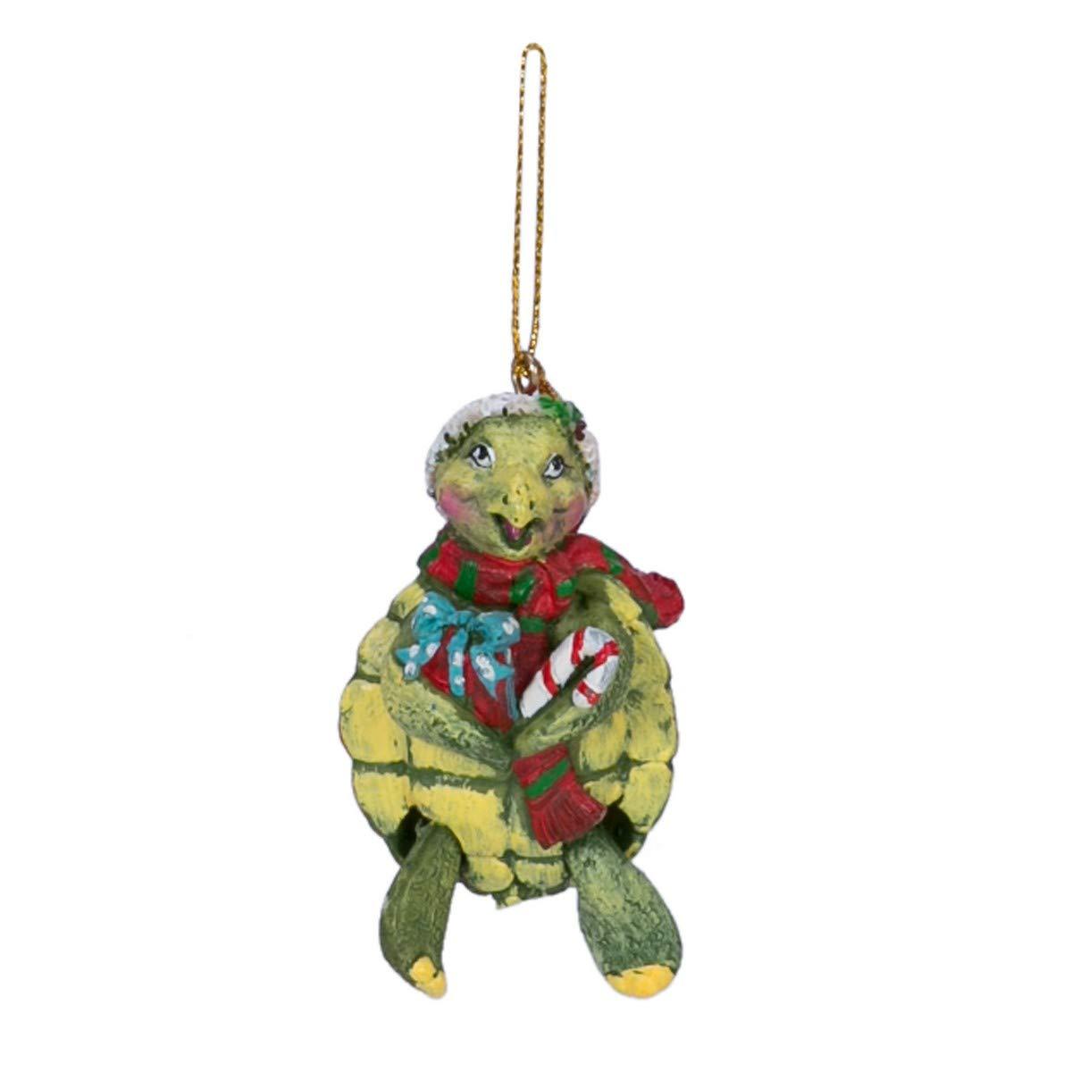 Ornamento de la Navidad de la tortuga advpro/gorro de Papá ...