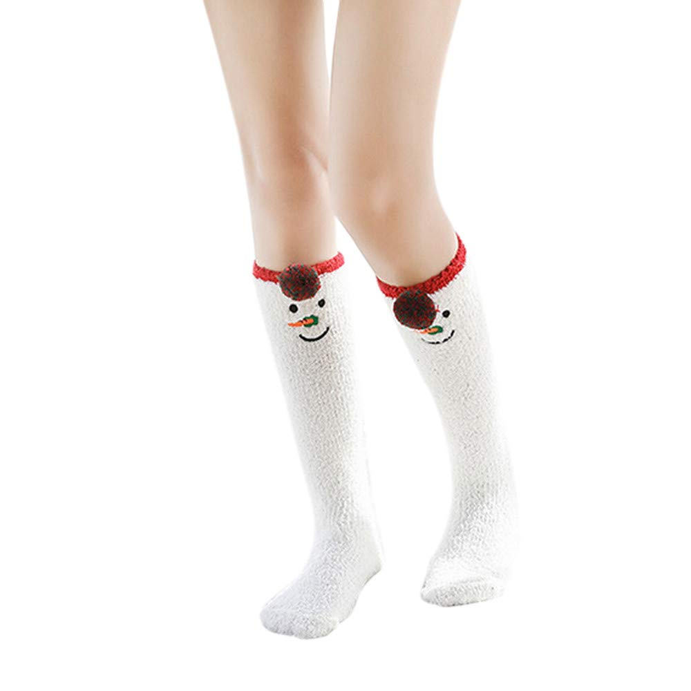 Christmas Socks for Women& Men, WUAI Clearance Unisex Winter Warm Cartoon Animal Print Stockings Sleeping Socks Free Size) WUAI-womens socks