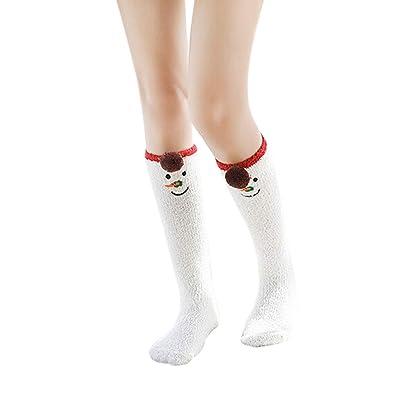 Calcetines de Navidad Casual Cute Cartoon Animal Print Medias Calcetines para Dormir Unisex para Chica Niño Mujeres Hombres (A): Amazon.es: Zapatos y ...