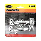 Bulk Buys MM043-96 4'' Long Metal Door Handle with Hardware - Case of 96