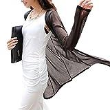 LaiGouMai Women See-Through Mesh Soft Top Jacket Figure Color One Size