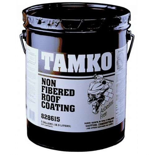 Tamko 30001641 Non Fibered Roof and Foundation Coating, 1 Gallon Bucket