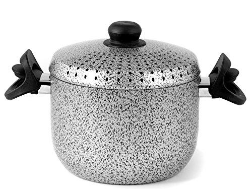 Home Salt N'Pepper Nudeltopf Antihaft, Aluminium, 4 Liter, Schwarz/Grau, 20 cm