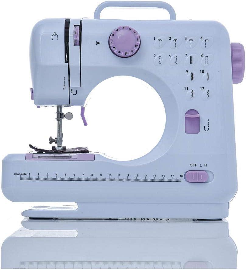 Mini máquina de coser multifunción 505A 12 puntadas reemplazables ...