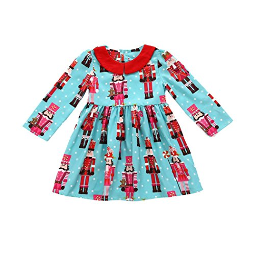 Toddler Kids Baby Girls Cartoon Princess Party Dress Christmas Outfits Clothes by CSSD (4T, (Girl Peter Pan Costumes)