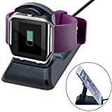 (US) Fitbit Blaze Charger Charging Stand Accessories, Anglink Fitbit Blaze Charging Dock Station with 4.9ft Cradle Holder charging Clip Bracket Charger Cable for Fitbit Blaze Smart Fitness Watch