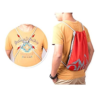 Fitness & Body Building New large capacity men drawstring backpack canvas draw-cord closure Sports bag unisex Fashionable concise basketball bags