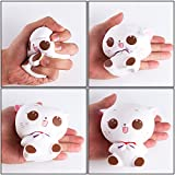 WATINC 1 Pcs Jumbo Squishy Kawaii White cat Cream Scented Slow Rising Squishies Charms, Lovely Toy for Stress Relief Toy Hop Prop Large(White cat)