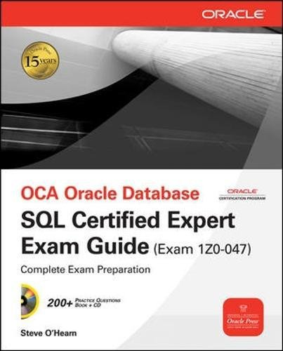 OCE Oracle Database SQL Certified Expert Exam Guide (Exam 1Z0-047) (Oracle Press) by Wells, April J.