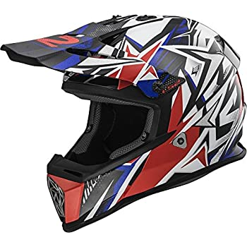 a72bfd43 Amazon.com: LS2 Helmets Unisex-Adult Full face Helmet Red/White/Blue ...