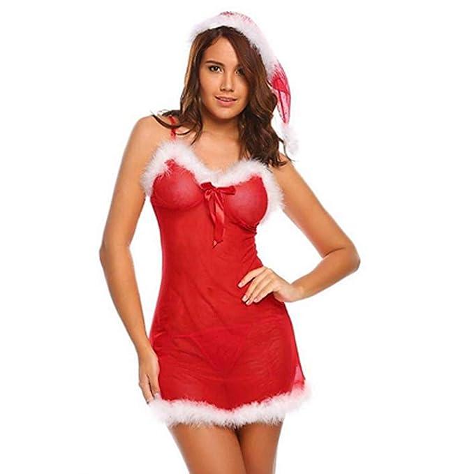 ❤️ Vestido de lencería Tentación, Mujeres de Navidad Ropa ...